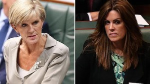 Left: Australian Foreign Minister, Julie Bishop. Right: Tony Abbott's Chief Of Staff, Peta Credlin.